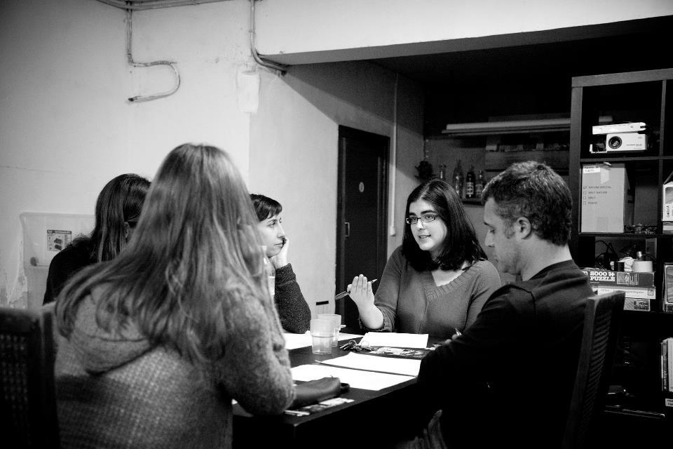 Moment d'assaig amb Blanca Bardagil. Fotografia de Roser Blanch.