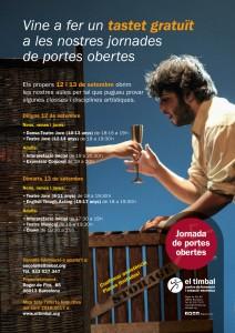 Poster aules obertes setembre el timbal